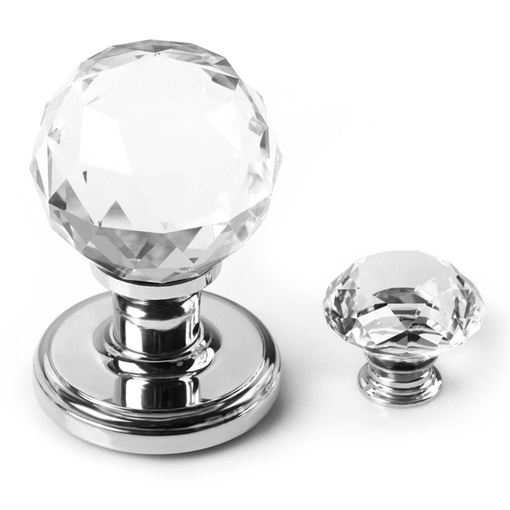 Large Crystal Glass Ball Door Knobs Internal Mortice Polished Chrome Door Handle 657419767125 | eBay