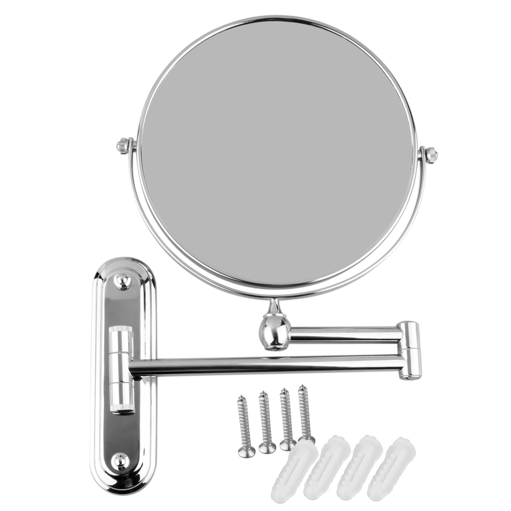 8 Wall Mounted Two Side Extending Shaving Bathroom 10x Magnifying Makeup Mirror 657419560535 Ebay