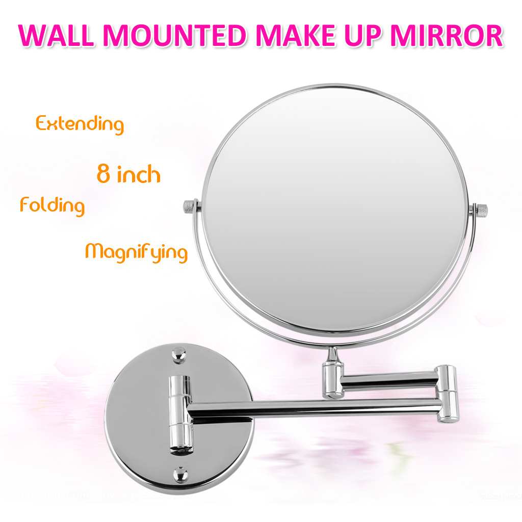 8 Wall Mounted Bathroom Shaving Beauty Double Side Makeup 10x Magnify Mirror