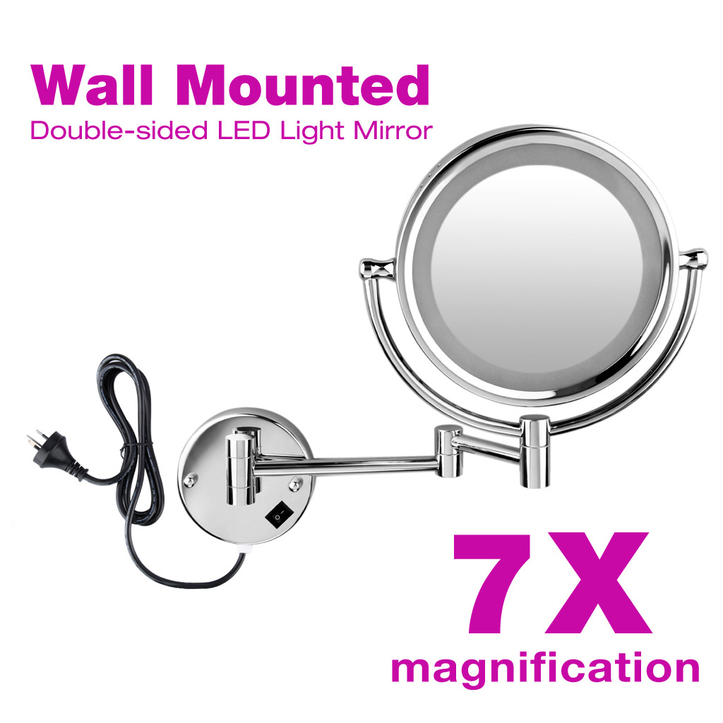 8 5 Makeup Mirror Led Vanity Lighted 7 10x Magnification Cosmetic Beauty