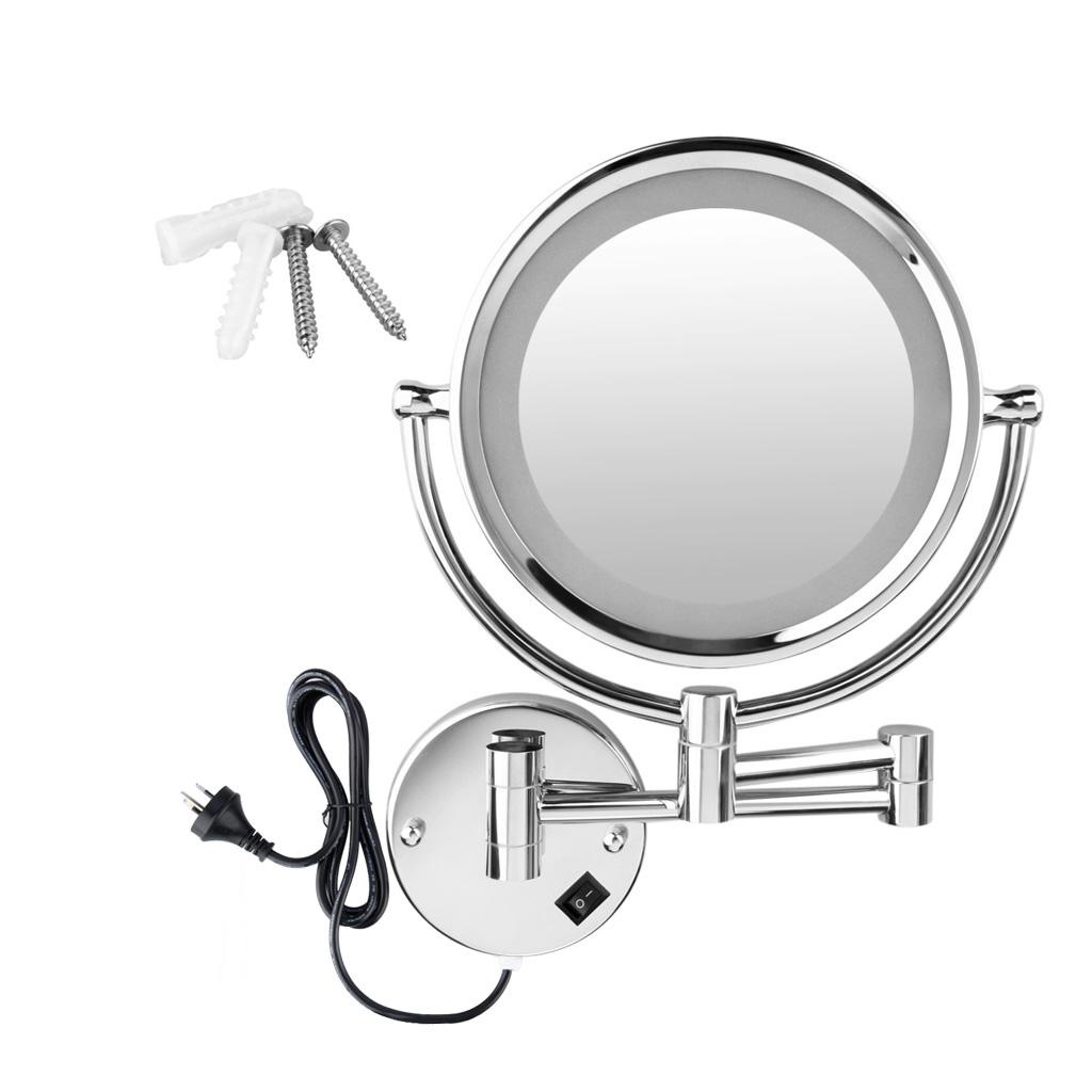 Led Light 10x Maganifying Makeup Mirror Wall Mounted