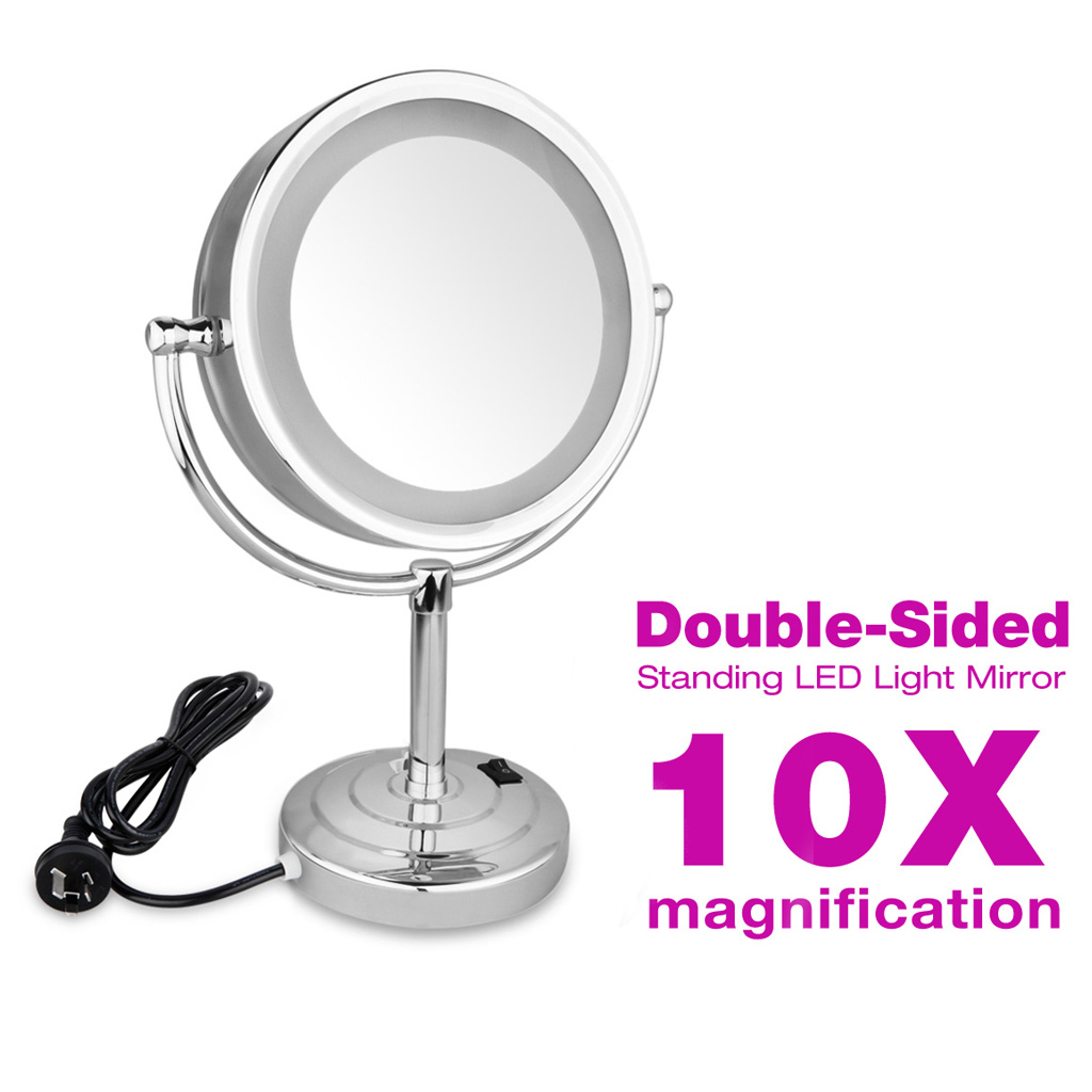 Lighted Makeup Mirror 10x Magnification Style Guru