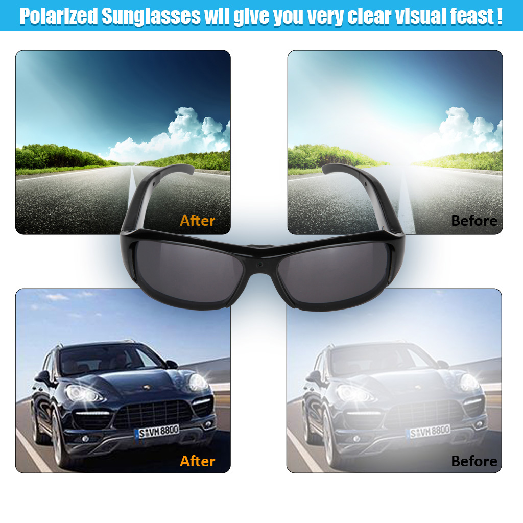 29166ec256e289 Details about Excelvan Mini HD Spy Camera Glasses Hidden Eyeglass  Sunglasses Cam Eyewear DVR