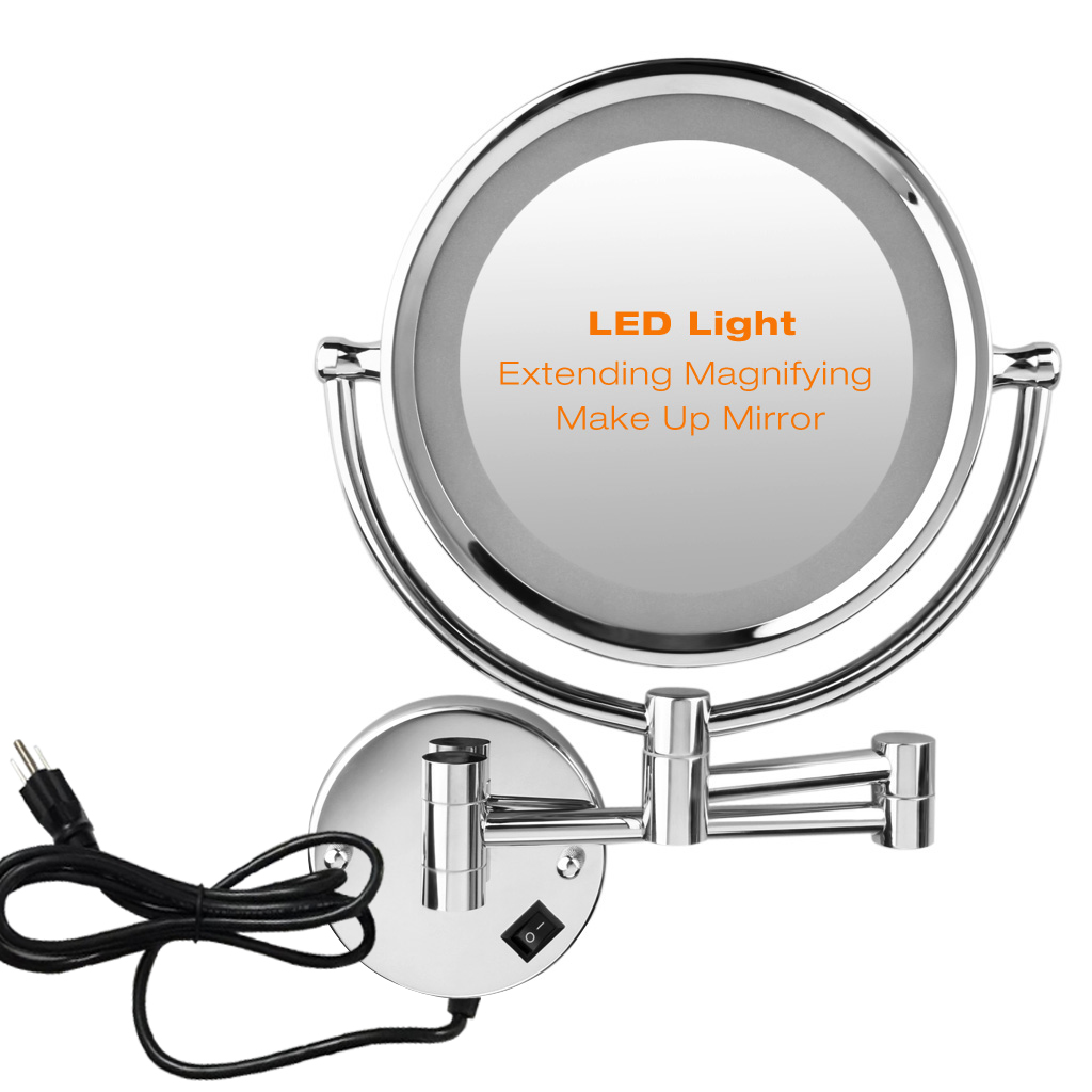 Bathroom led makeup mirror 10x magnifying wall mount dual sided does not apply amipublicfo Image collections