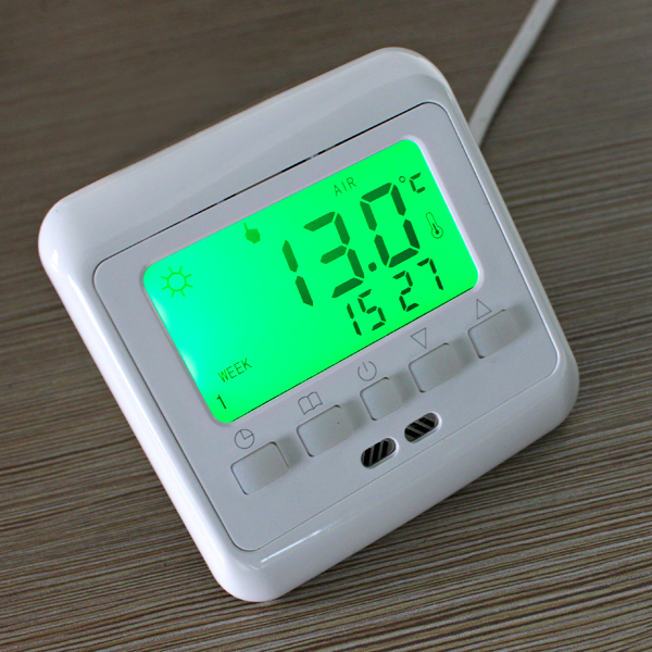 Floureon LCD 16A Electric Underfloor Heating Thermostat Switch 3m ...