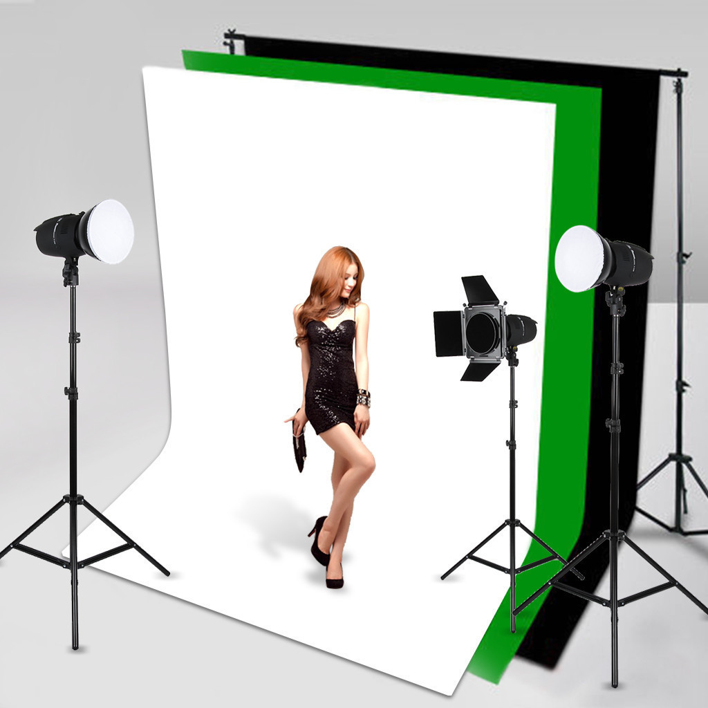 Black White Backdrop Background Non Woven Photography Studio Video Screens-NEW
