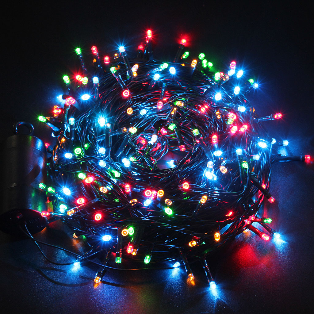 40m 300 led light battery power inoutdoor string fairy xmas wedding excelvan multi color led battery operated holiday string light contains 300 leds on a 131 feet green string of lights that build a colorful festival aloadofball Images