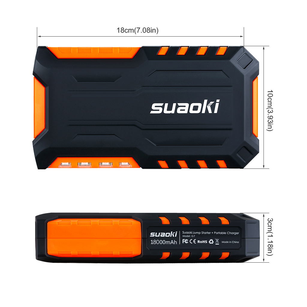 Details About Suaoki Car Jump Starter Power Bank Battery Charger Booster Emergency Mini Pump