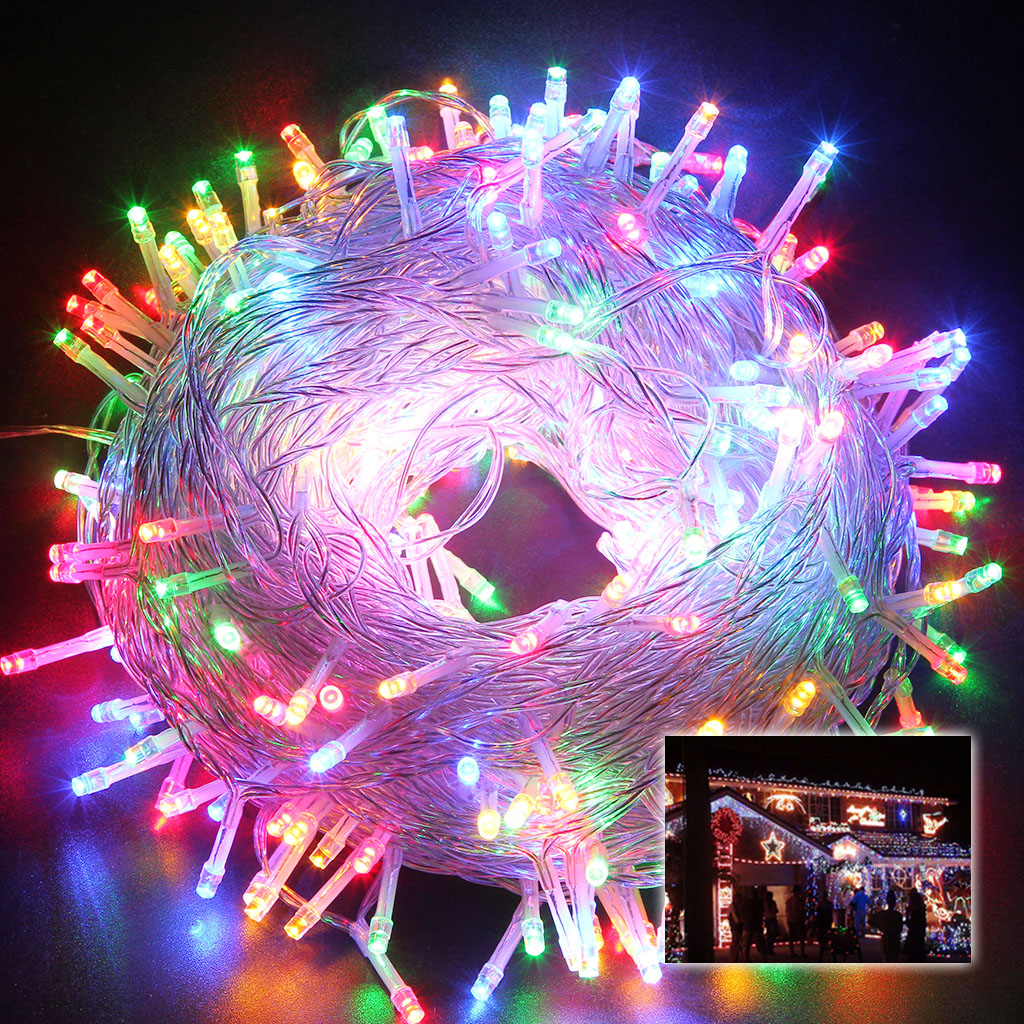 Details About 50m 250 Multi Color Led String Light Lamp Xmas Party Fairy Lighting Waterproof
