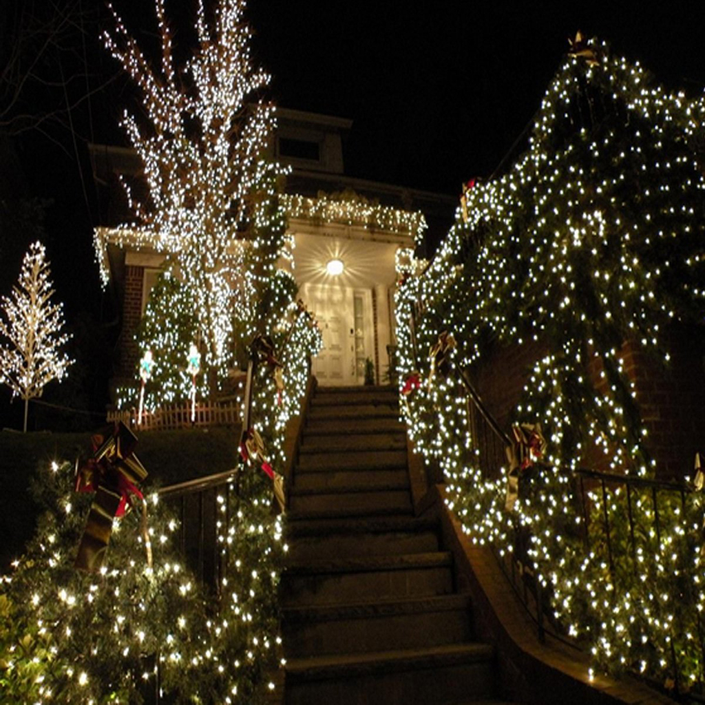 Cool white led outdoor string lights outdoor lighting uk 250 led 50m white string fairy light for tree party commercial outdoor led string lights aloadofball Choice Image