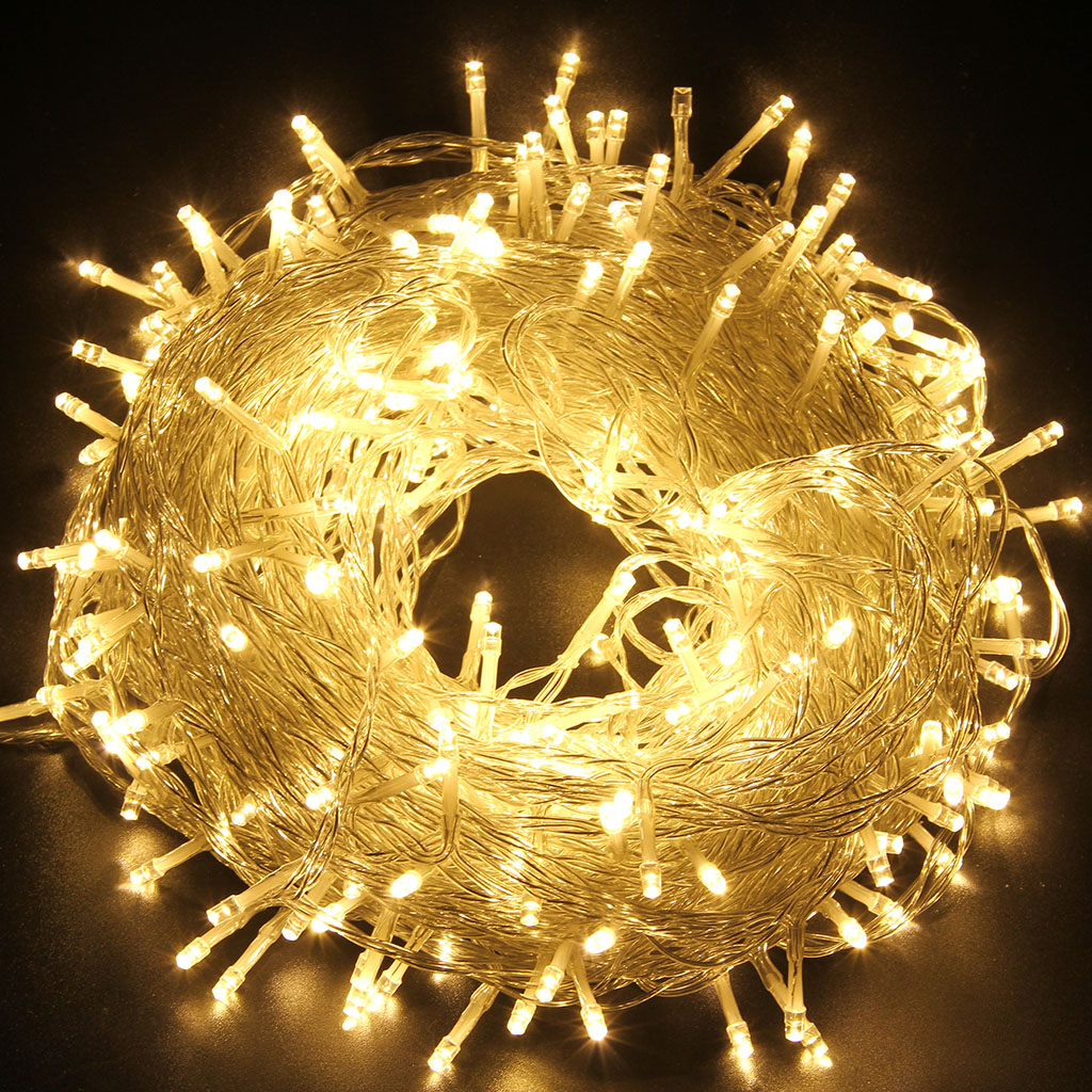 250 LED String Fairy Lights Indoor Outdoor Xmas Christmas Party ...
