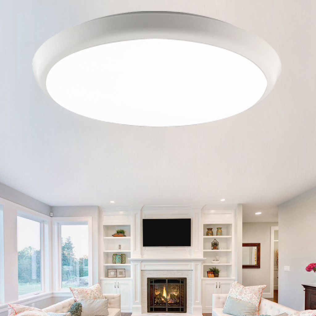 diffused lighting fixtures. 18W Surface Mounted LED Ceiling Light,4000K Color Temperature,1600lm,40000 Hours Lifetime,IP54 Waterproof Design, Flame-Retardant PC Diffusion Cover Diffused Lighting Fixtures