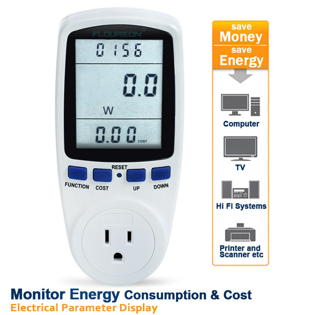 Details about Power Saving Energy Monitor Watt Volt Amp KWh Hertz Meter  Electricity Analyzer