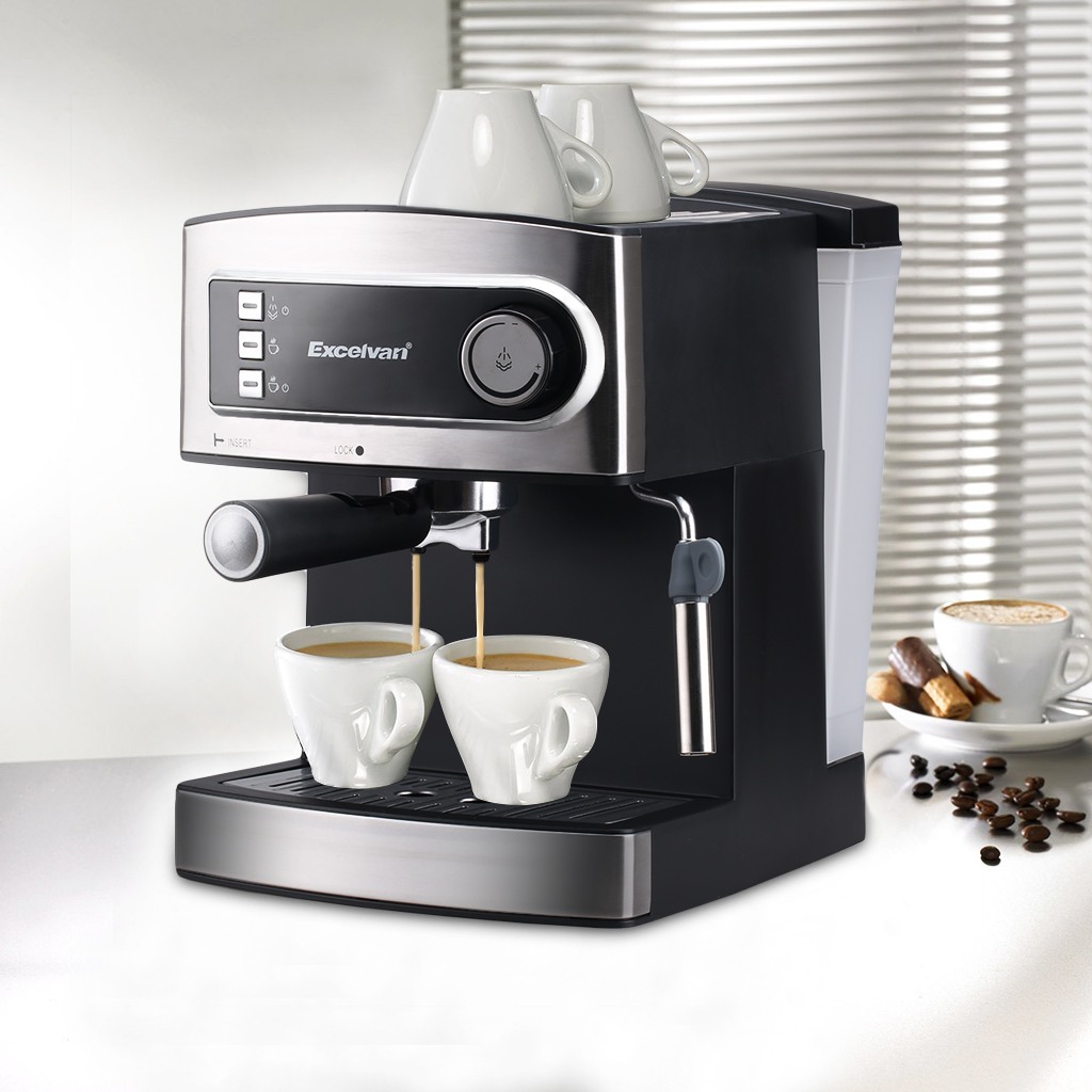 3 5 15 Bar Pro Filter Coffee Maker Machine Steam Espresso Cuccino Latte Four