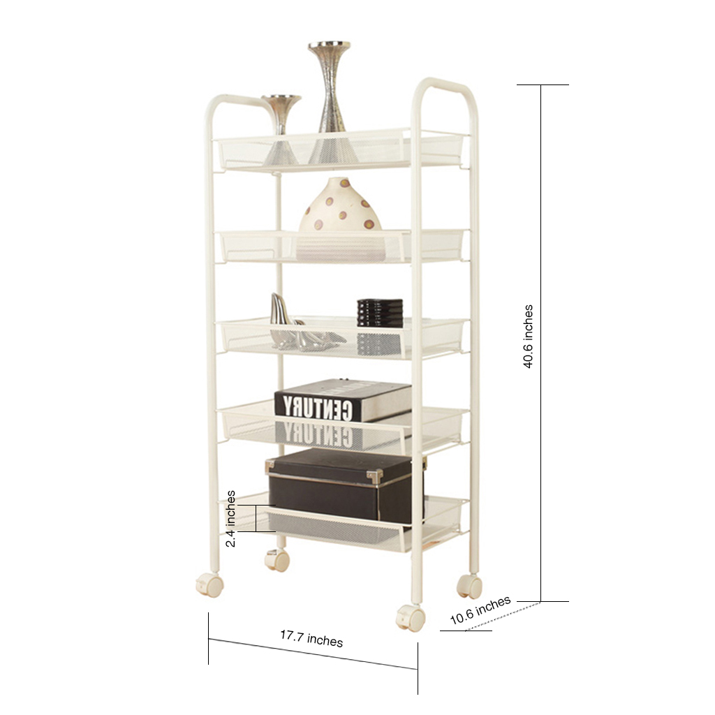 rolling shelf rack 3 5 6 tier rolling storage kitchen office trolley cart 25636