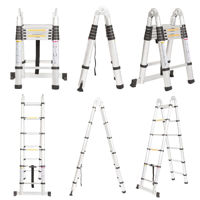 Finether 330 Lb Capacity Aluminum alloy Telescoping A-Frame Ladder ...