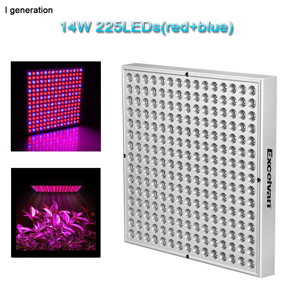 14w rot blau 225 smd led pflanzenlampe wachstumslampe pflanzen excelvan 14w 225 smd led hydroponic plant grow light lighting panel for plant flower vegetable greenhouse garden redblue indoor plant grow light parisarafo Image collections