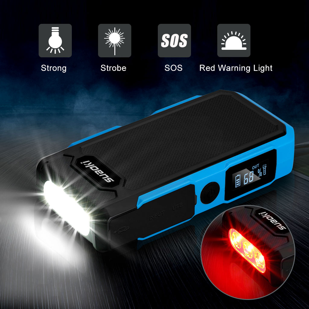 Suaoki Jump Starter 12v 24v Car Vehicle Battery Booster Emergency Short Circuit Protection Truck Charger Ebay