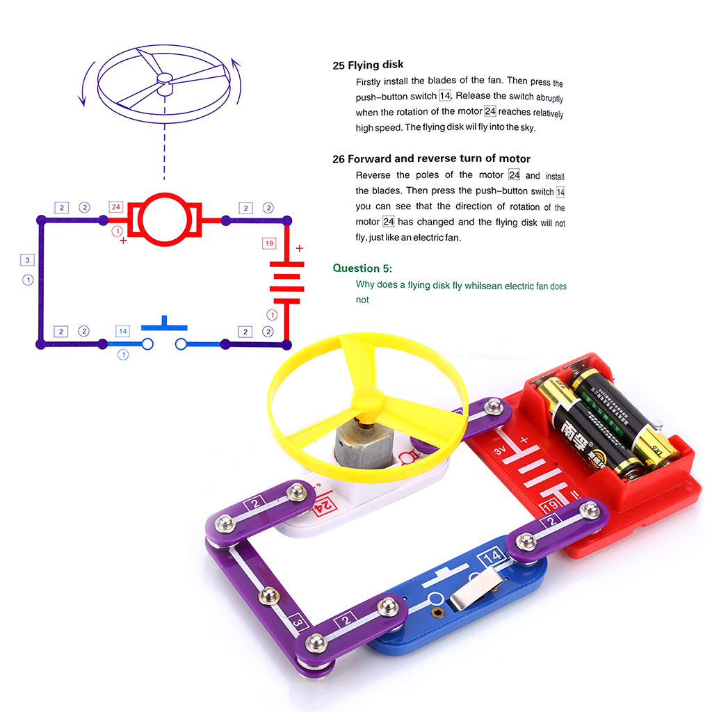 W 335 Electronics Discovery Kit Smart Circuit Diy Blocks Science Snap For Kids Perfect Educational Gift Great Family Involved Cheerful Electronic Set Bring Hours Of Fun