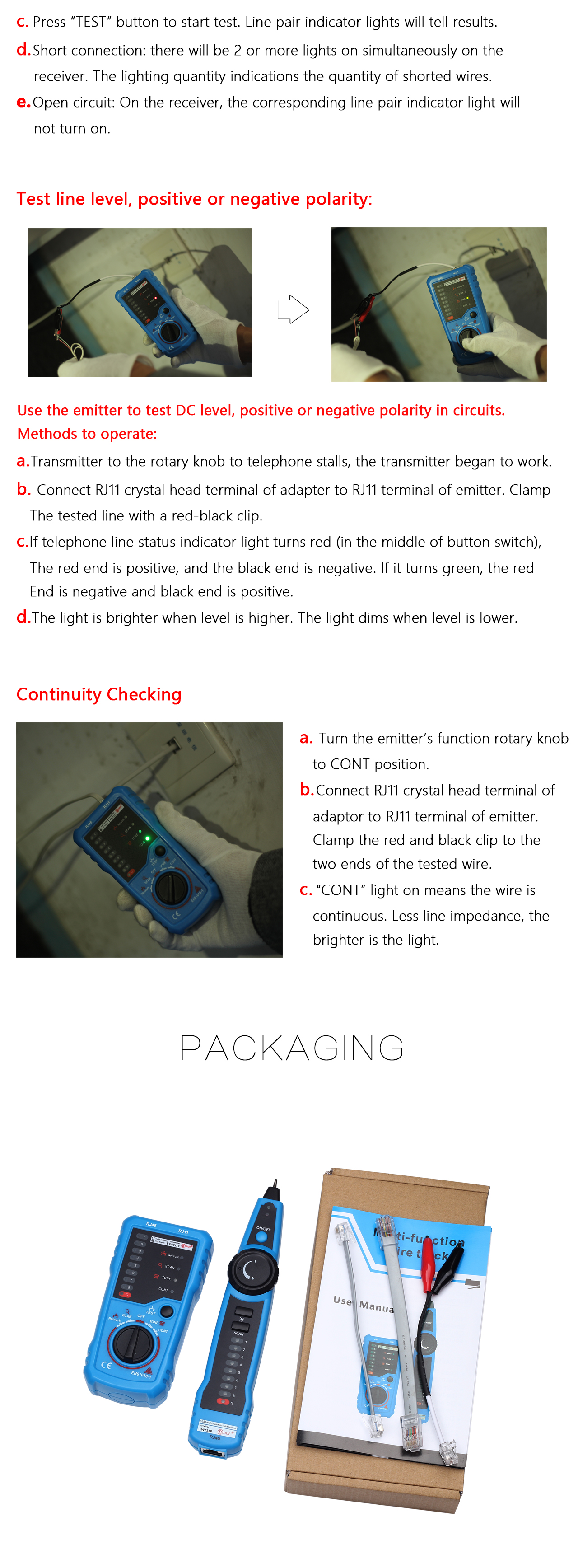 Bside Fwt11 Telephone Network Wire Tracker Lan Cable Tester Detector Rj45 Circuit Schematic Handheld Rj11 Ethernet Line Finder