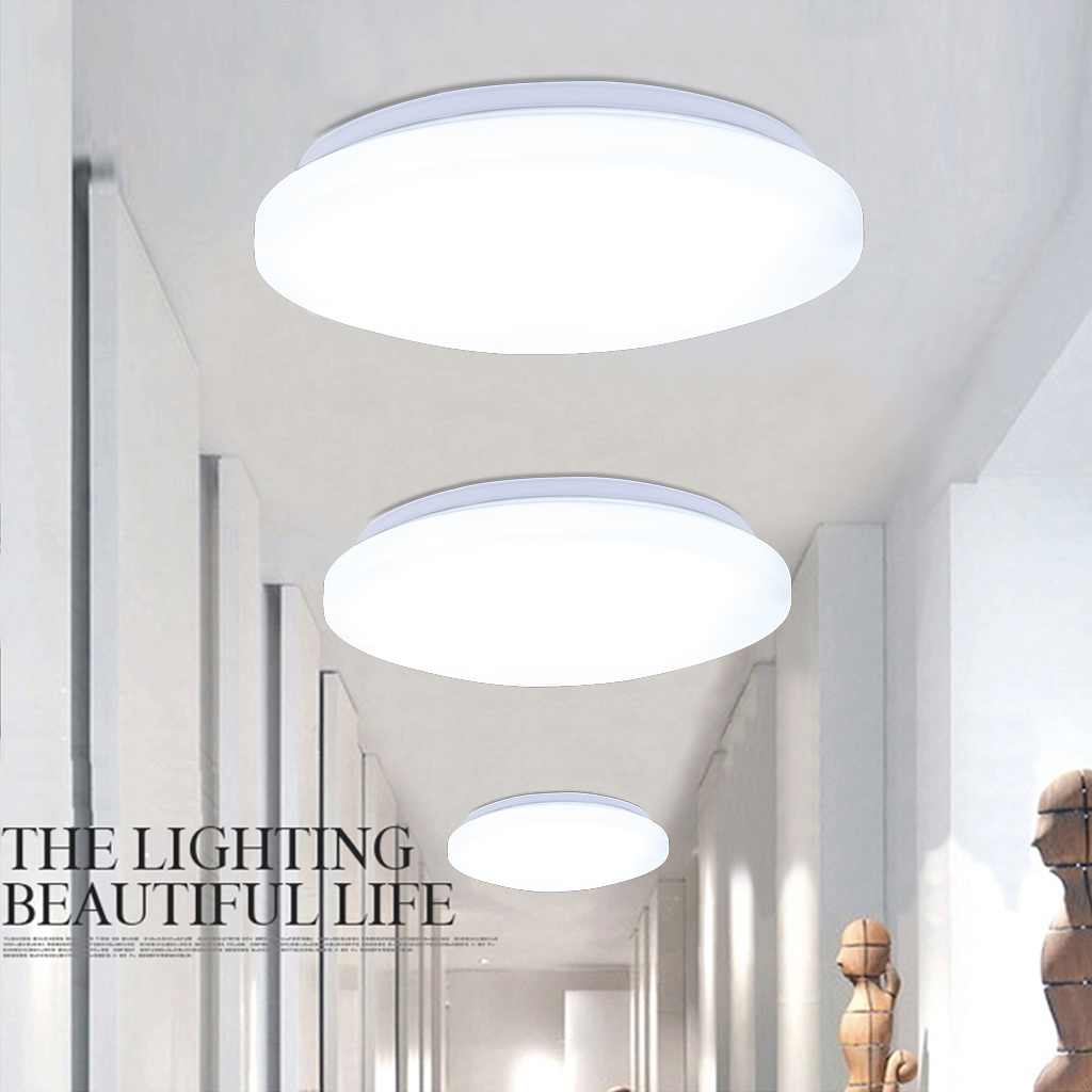 Floureon 18w Round Ceiling Down Light Flush Mount Kitchen Living Room Balcony Uk Ebay