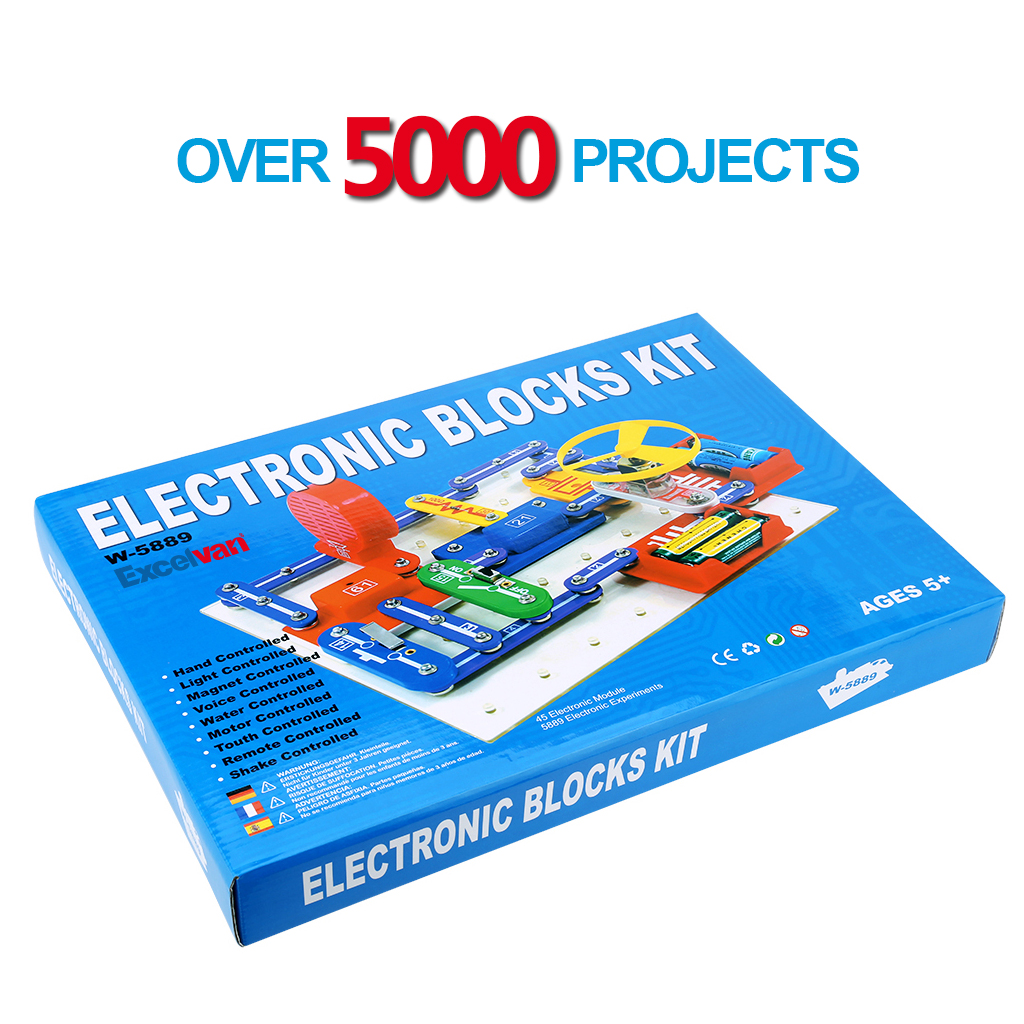 w 5889 electronics kits smart circuits kids science educational toy 5000projects ebay Snap Circuits Light Steps Snap Circuits Beginner