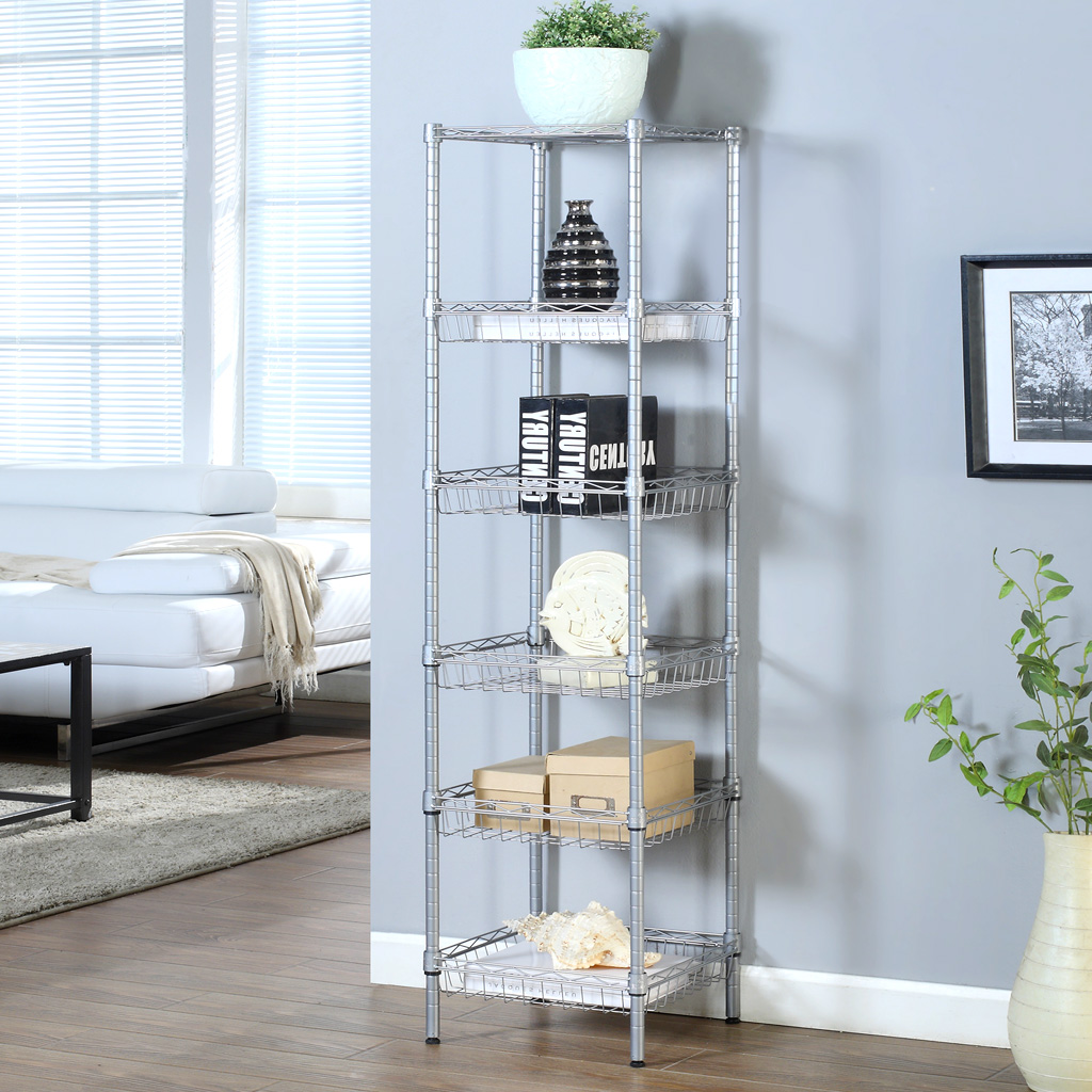 LANGRIA Home Kitchen 6Tier Wire Shelving Unit Storage Organization ...