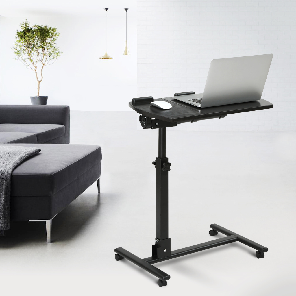 office desk laptop computer notebook mobile. Interesting Office LAPTOP CART LANGRIA Portable Rolling Laptop Cart Mobile Desk Notebook  With AngleandHeightAdjustable SplitTop Side Table 360 Degree Swivel And 4  Throughout Office Computer