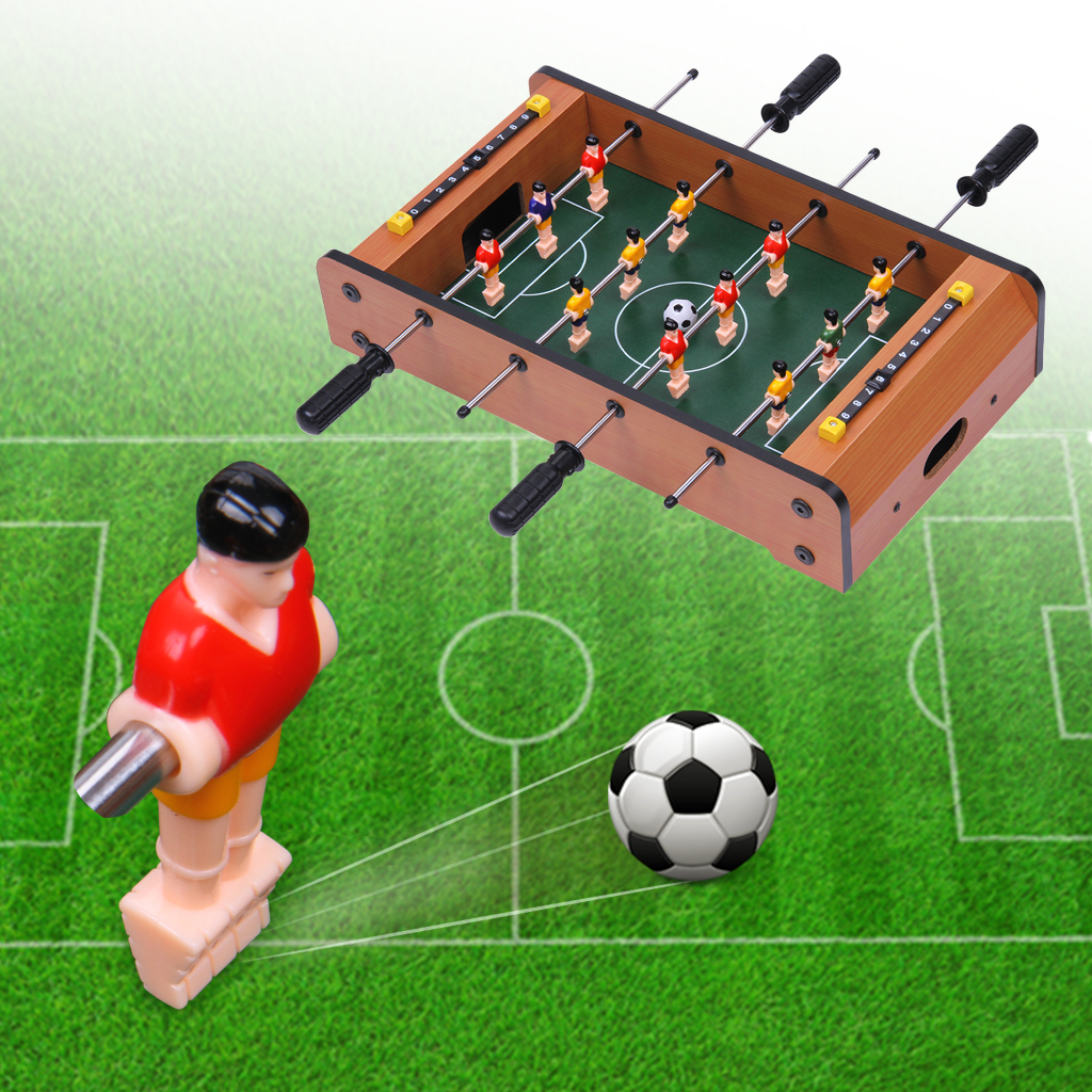 Excelvan Mini Table Top Foosball 17 Inches Soccer Game Table 17.32 * 9.84 *  3.54 Inches. Indoor U0026 Outdoor Soccer Game Kids Toy