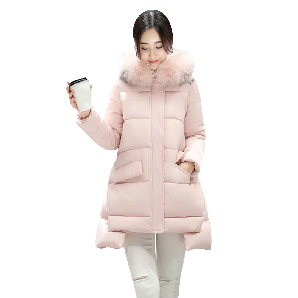 Jual Fashionmall Woman Quilted Jacket Cotton Parka Long