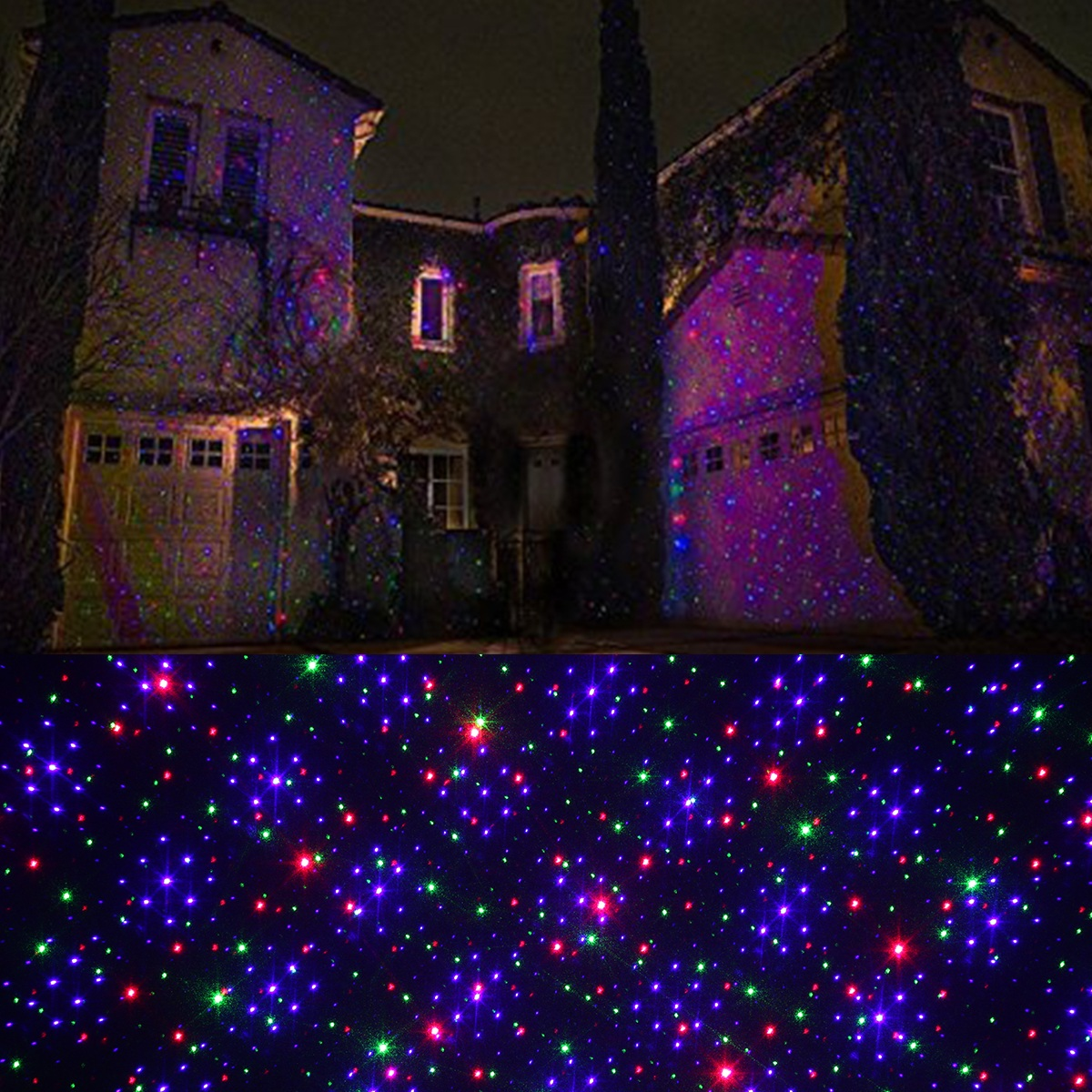firefly laser projector starry laser lawn light built in light sensor ip65 waterproof red and green and blue lighting combination - Firefly Christmas Lights