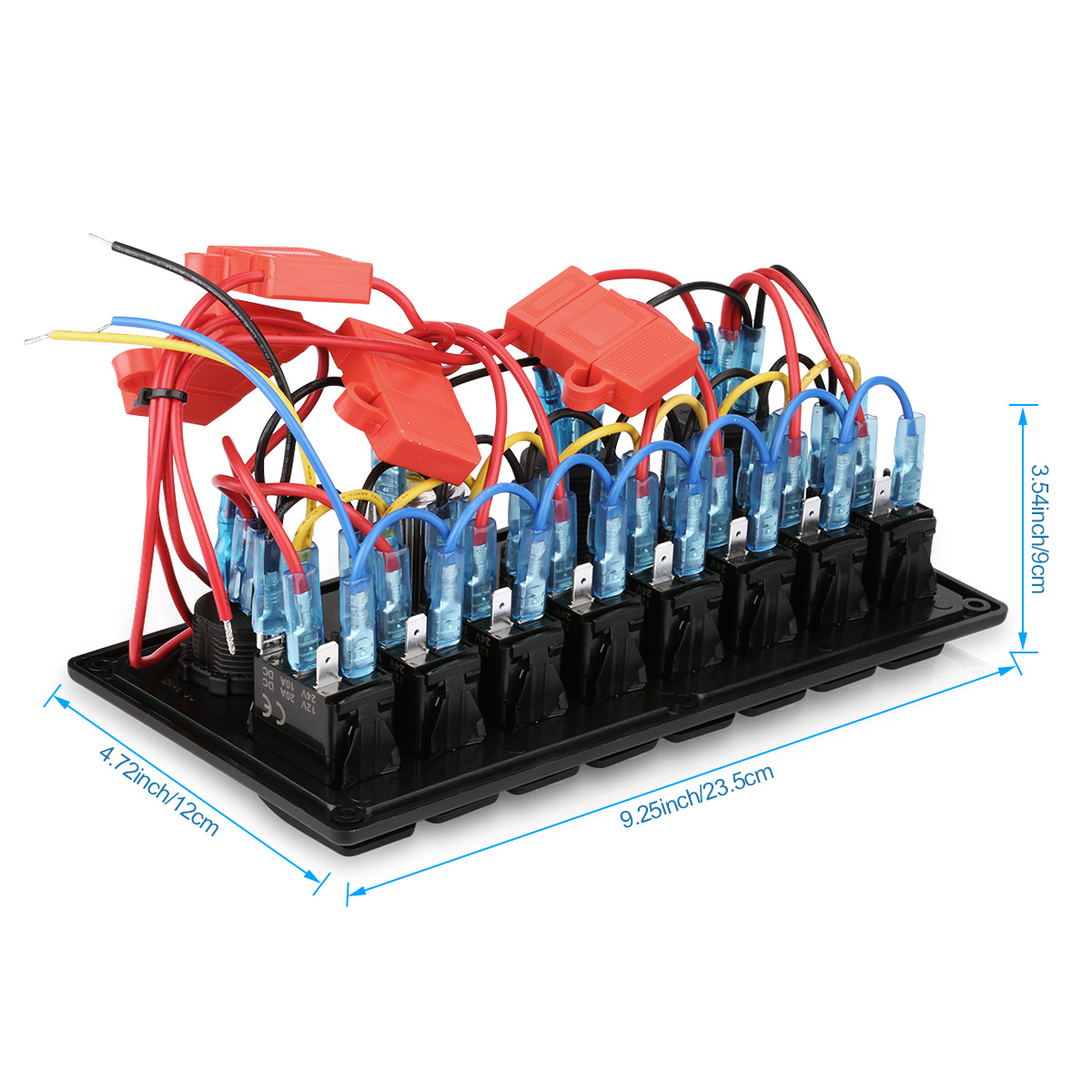 4 Gang 12v Switch Panel Wiring Diagram Electrical Diagrams Excelvan 8 Led Rocker Digital Voltmeter Double Usb Four Circuits