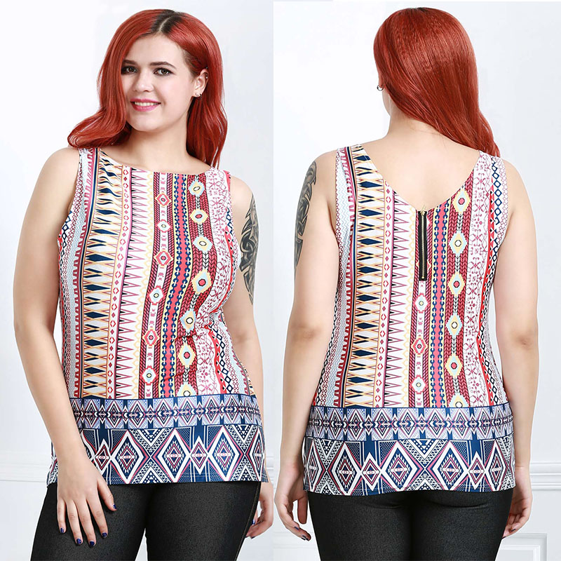 6c3fb29439 Jual Fashionmall new arrival printing vest women's retro national ...
