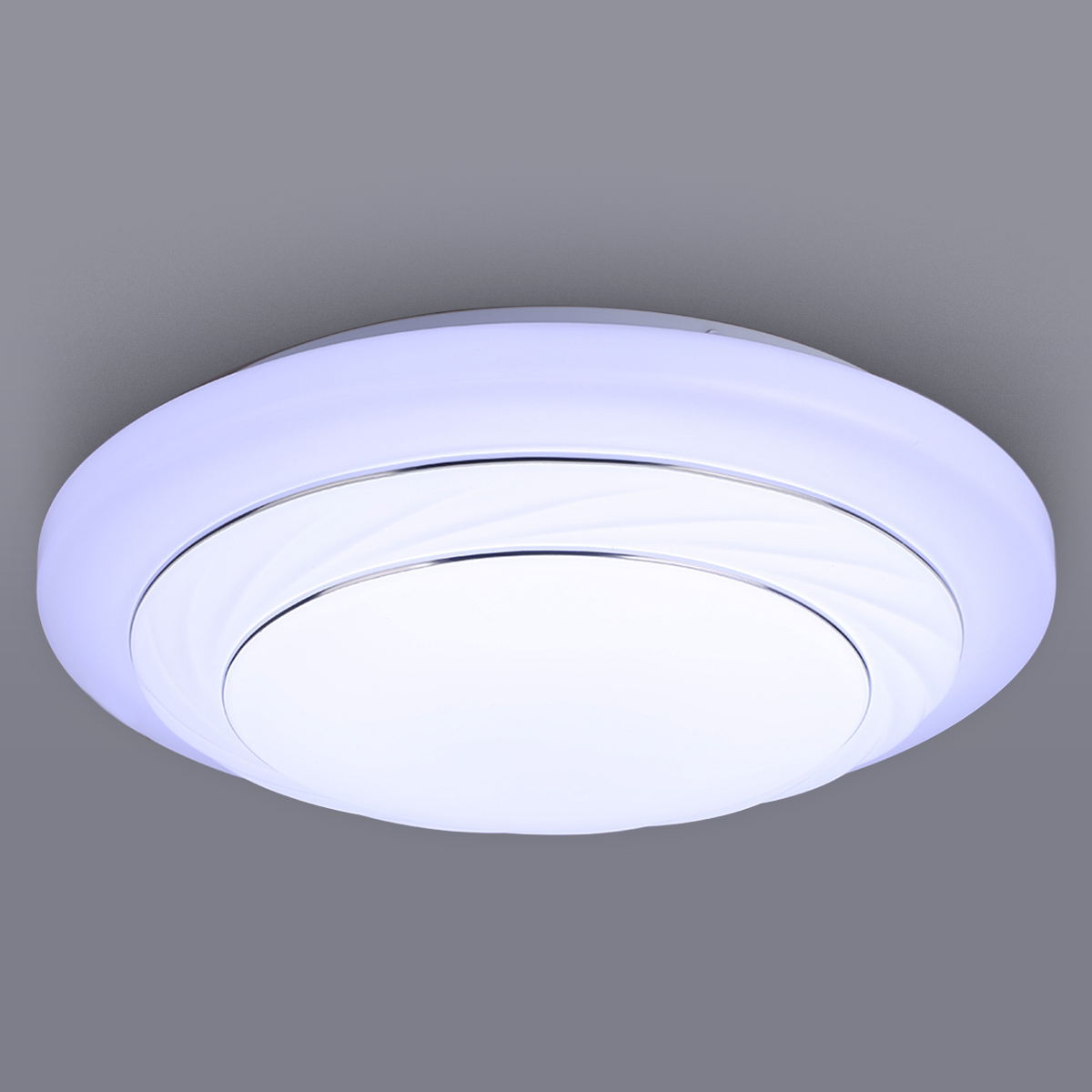 24w Led Dimmable Ceiling Light Round Flush Mounted Fixture: 24W LED Ceiling Light Round Flush Mount Fixture Balcony