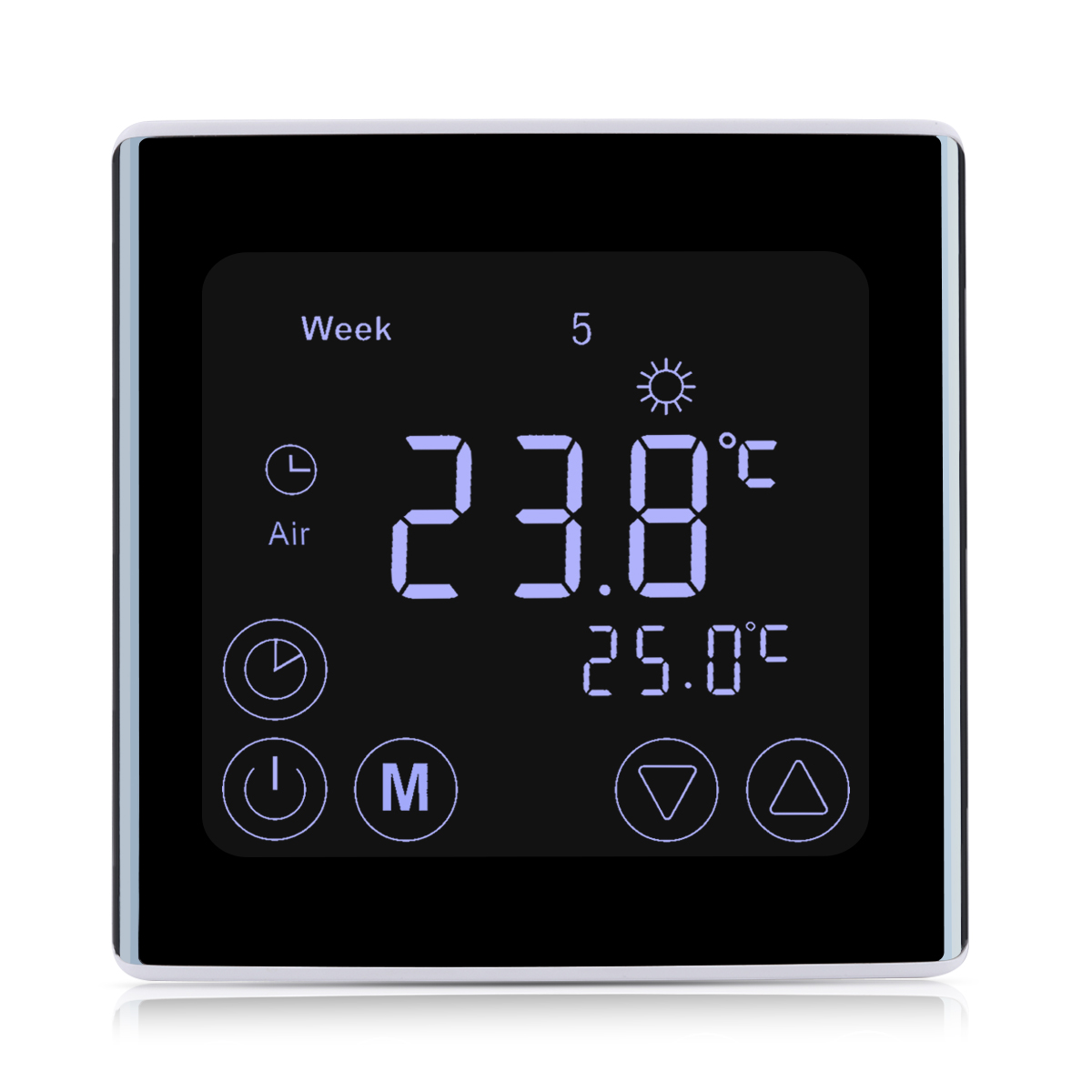 digital touch screen thermostat temperature controller heating programming 16a ebay. Black Bedroom Furniture Sets. Home Design Ideas