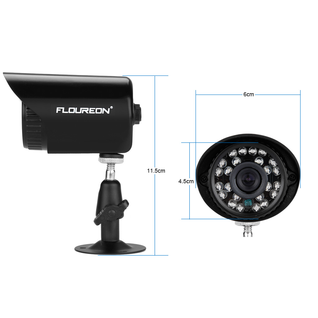 8CH 1080N AHD CCTV DVR 1500TVL Outdoor 720P Night Vision Security ...