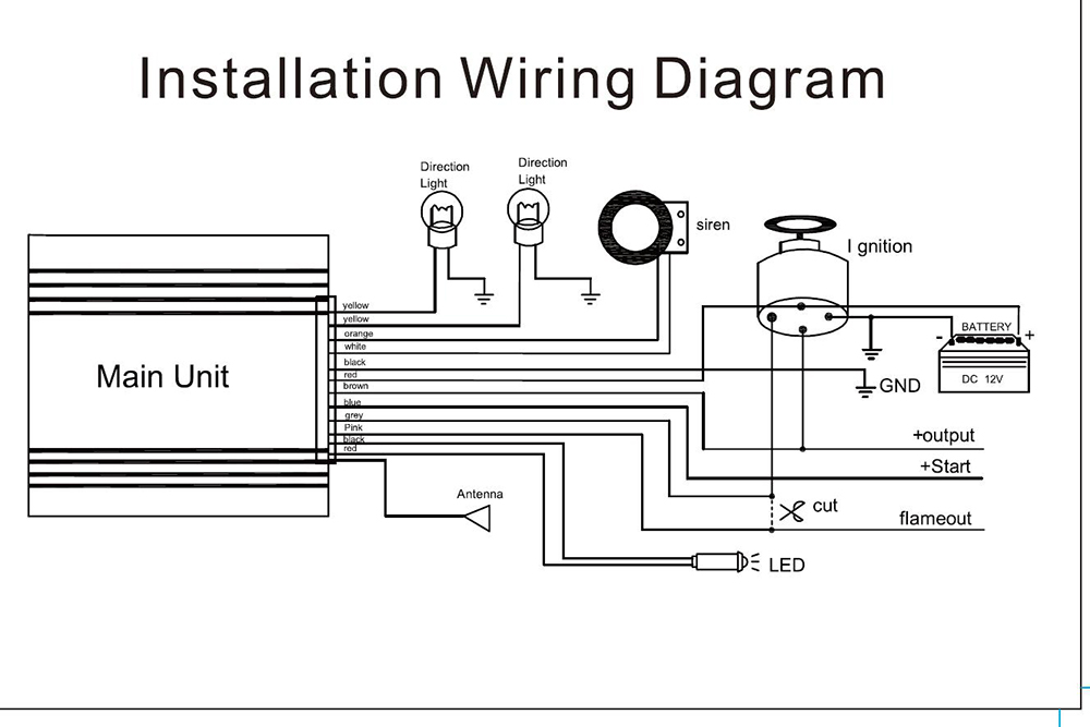 Installation wiring diagram of motorcycle alarm system the best black lm300 waterproof two way lcd motorcycle anti theft security plete circuit diagram swarovskicordoba Gallery