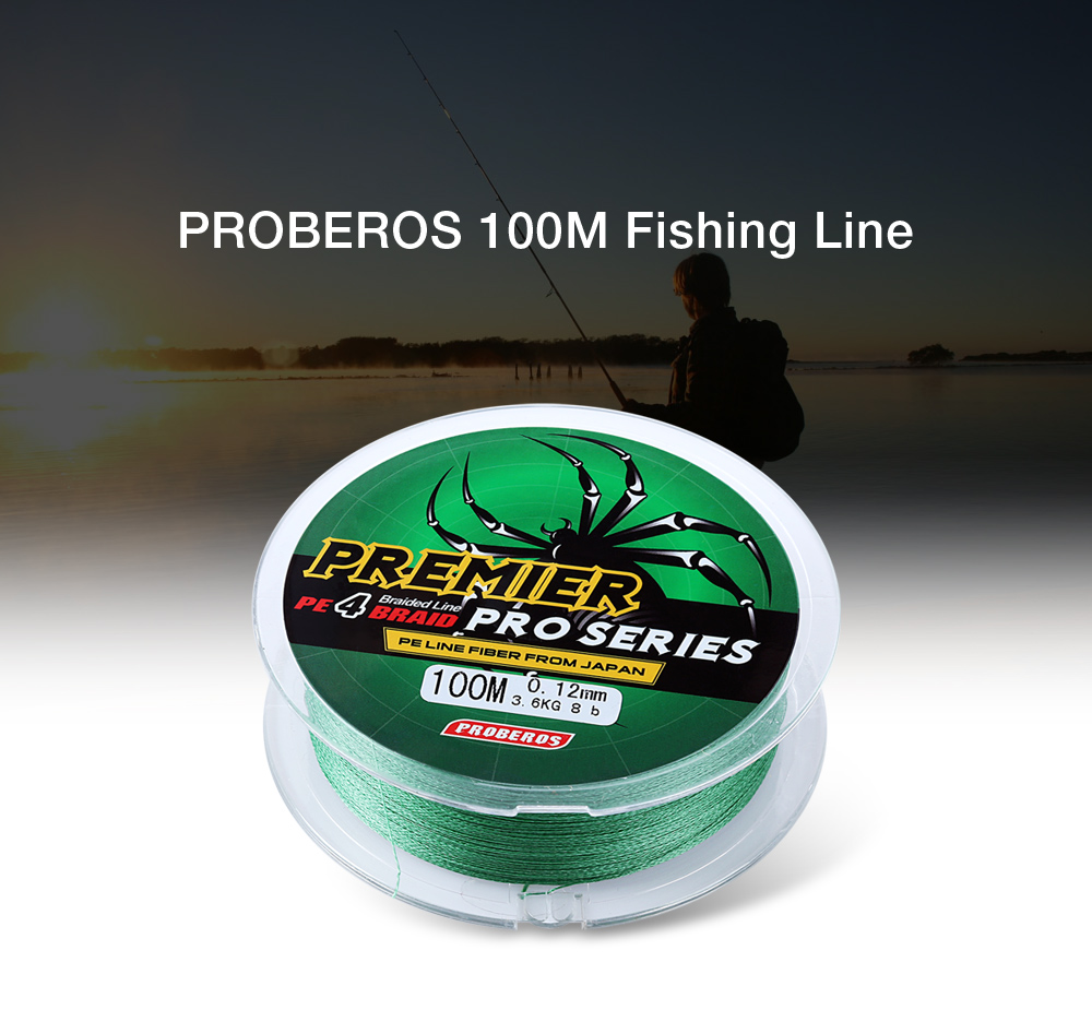 Proberos 100m 5colors braided wire pe monofilament fishing for Strong fishing line