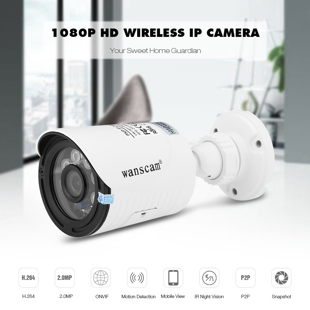 Details about Wanscam HW0022 - 1 HD 1080P H 264 2MP Wireless WiFi Outdoor  Security IP Camera