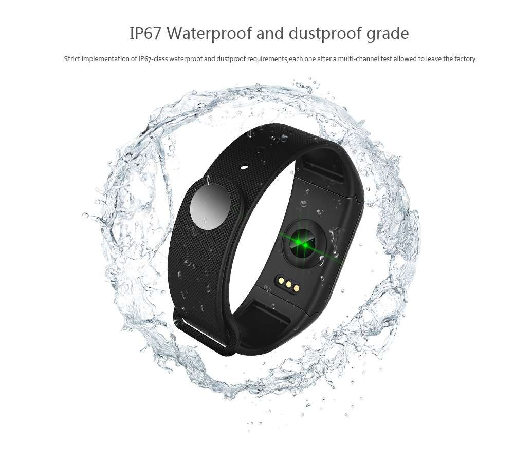 F601 F1 Plus Smart Bracelet Heart Rate Blood Pressure Monitor Sports Wristband Original Color Screen 20180130170916 77323