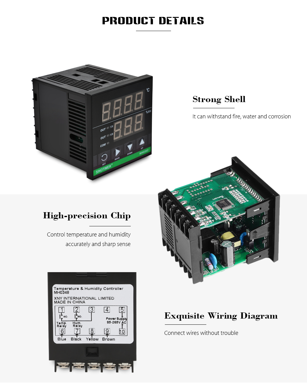 Superb Sinotimer High Precision Intelligent Temperature Humidity Controller Wiring Digital Resources Indicompassionincorg