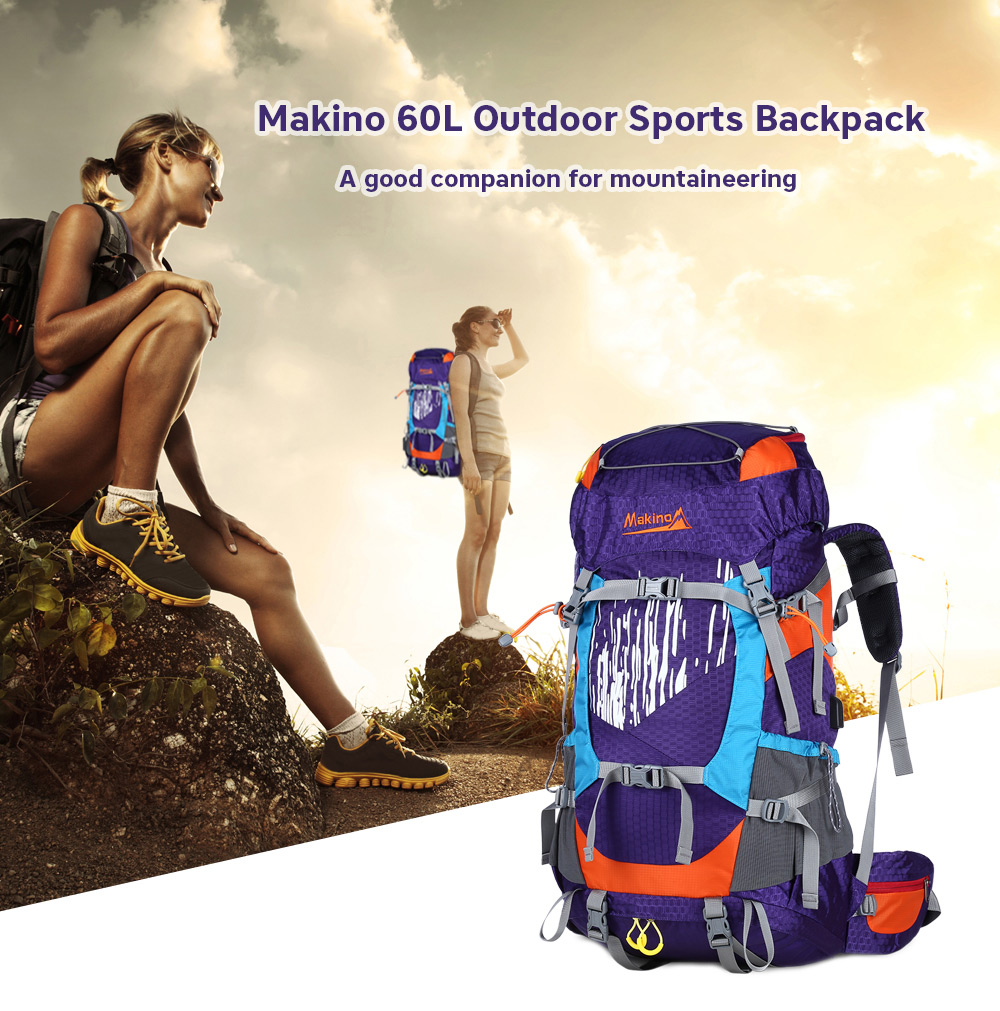 6391834faaec Makino 60l Waterproof Camping Backpack- Fenix Toulouse Handball