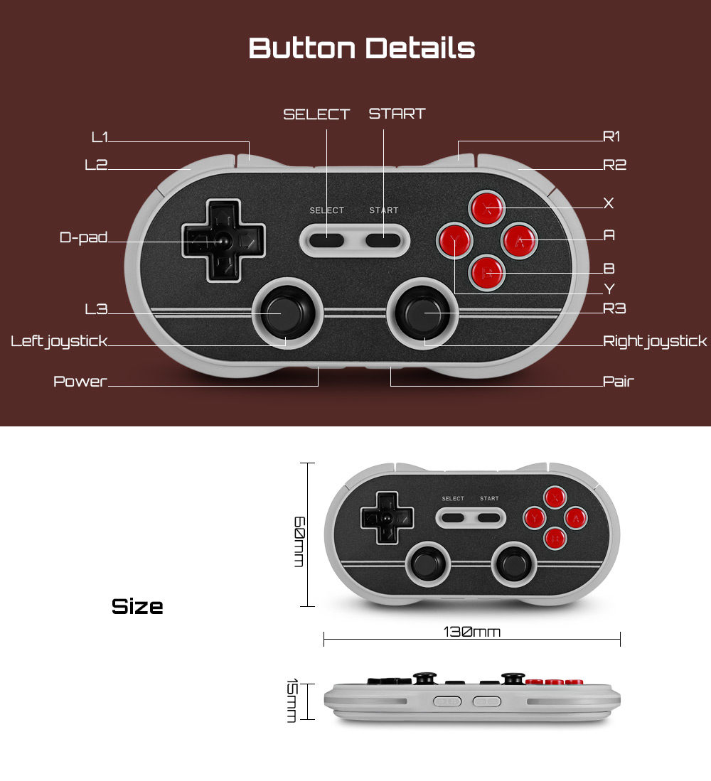 8bitdo N30 Pro Classic Wireless Bluetooth Controller For Android Ios Fc30 Wifi Pc 20180806165210 23481