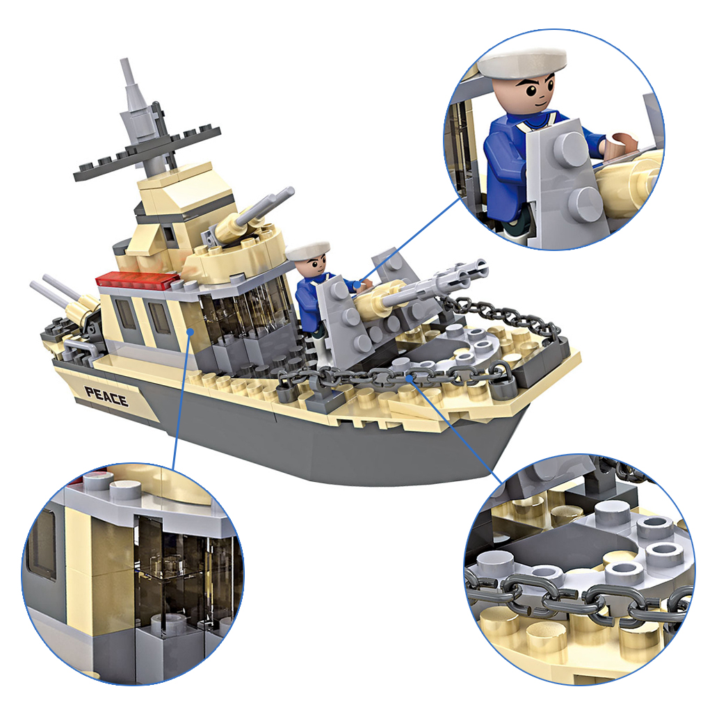 Details about 3332 COGO Military Ships Warship Model Building Brick Block  Toys Educational Set
