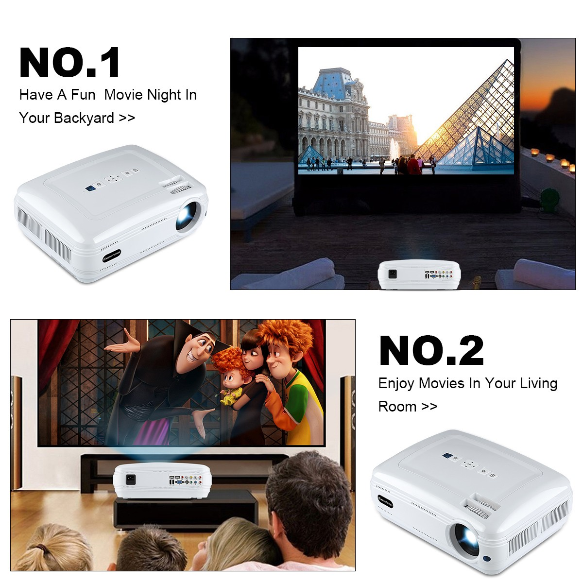 excelvan bl 59 3200 lumens multimedia projector home theater 1080p
