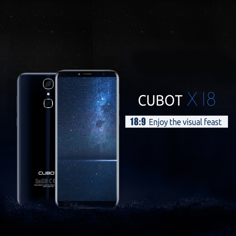 16MP Cubot X18 5,7\'\' 18:9 4G Smartphone Android 7.0 3GB 32GB 3200mAh ...