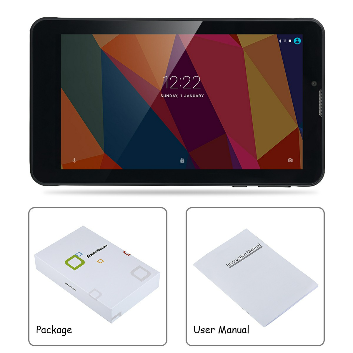 """Excelvan M07K6 7 0"""" Android 6 0 1024*600 1G+8G 3G Tablet PC"""