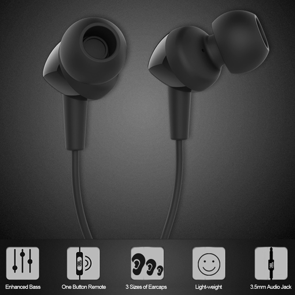 Details about JBL C100SI 3.5mm Wired Dynamic Stereo In-Ear Earphone Headset Hand-Free with Mic