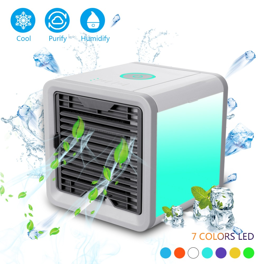 46cdc4986 Details about Portable Desktop Air Conditioner Fan USB Small Fan Cooling  Cooler AirPurifier