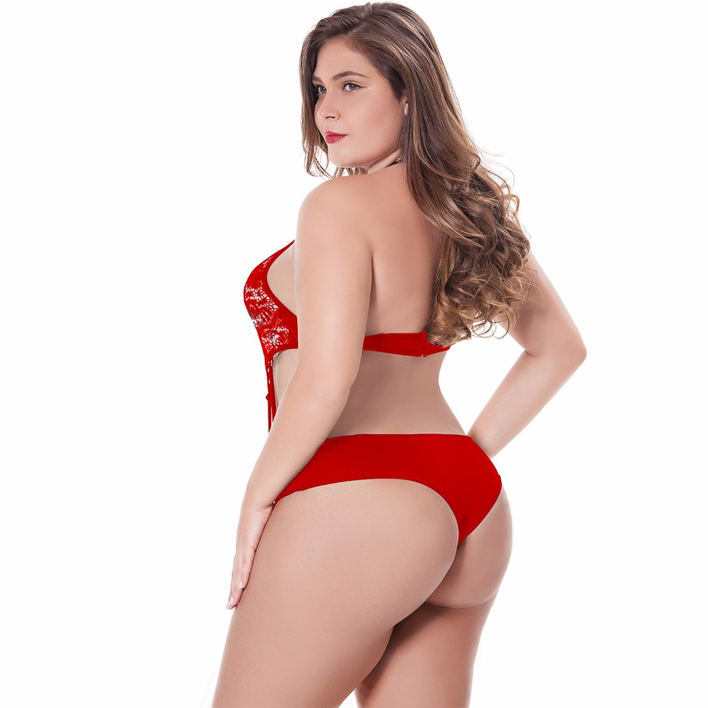 995bdb7806d One Piece Sexy PLUS Size Women Hollow Out Sleepsuits Babydoll ...